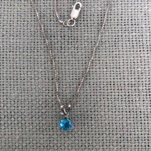 Super cute Blue Topaz necklace
